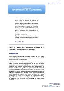 PRACTICA 3: ESPECTROSCOPIA DE FLUORESCENCIA