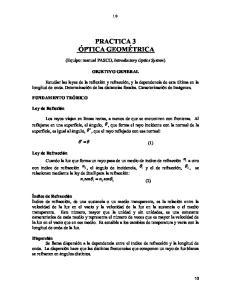 PRACTICA 3 ÓPTICA GEOMÉTRICA