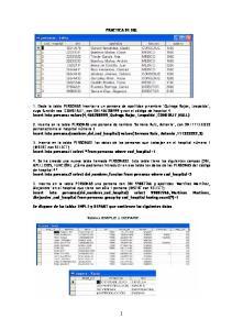 PRACTICA DE SQL. Se dispone de las tablas EMPLE y DEPART que contienen los siguientes datos