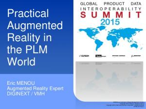 Practical Augmented Reality in the PLM World