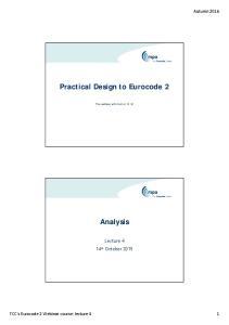 Practical Design to Eurocode 2