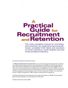 Practical Guide for Recruitment