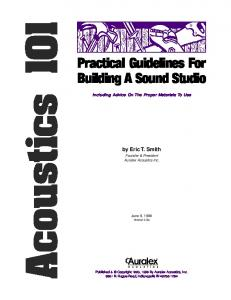 Practical Guidelines For Building A Sound Studio