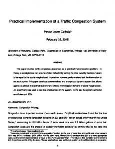 Practical Implementation of a Traffic Congestion System