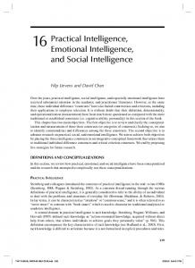 Practical Intelligence, Emotional Intelligence, and Social Intelligence