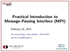 Practical Introduction to Message-Passing Interface (MPI)