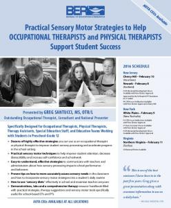 Practical Sensory Motor Strategies to Help OCCUPATIONAL THERAPISTS and PHYSICAL THERAPISTS Support Student Success