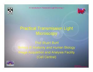 Practical Transmission Light Microscopy