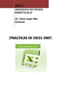 [PRACTICAS DE EXCEL 2007]