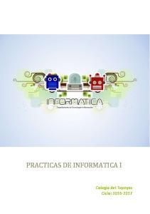 PRACTICAS DE INFORMATICA I
