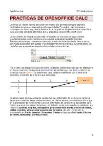 PRACTICAS DE OPENOFFICE CALC