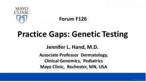 Practice Gaps: Genetic Testing