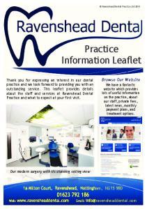 Practice Information Leaflet