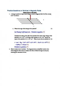 Practice Questions on Particles in Magnetic Fields