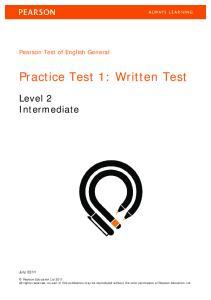 Practice Test 1: Written Test