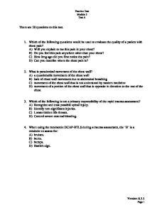 Practice Test Module 3 Test A