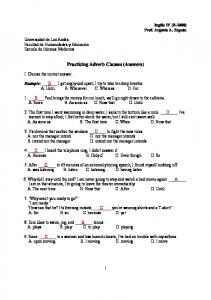Practicing Adverb Clauses (Answers)