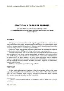 PRACTICUM Y CARGA DE TRABAJO