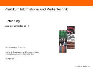Praktikum Informations- und Medientechnik