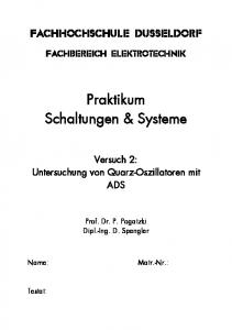 Praktikum Schaltungen & Systeme