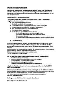 Praktikumsbericht 2010