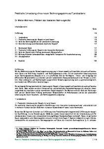 Praktische Umsetzung eines neuen Rechnungssystems auf Landesebene