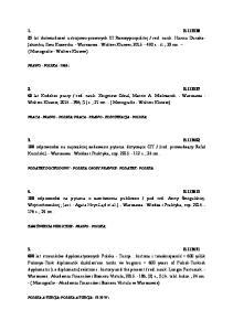 PRAWO - POLSKA ; PRACA - PRAWO - POLSKA; PRACA - PRAWO - KODYFIKACJA - POLSKA; PODATEK DOCHODOWY - POLSKA; OSOBY PRAWNE - PODATEK - POLSKA;