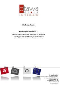 Prawo pracy w 2015 r