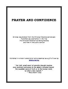 PRAYER AND CONFIDENCE