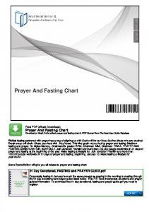 Prayer And Fasting Chart