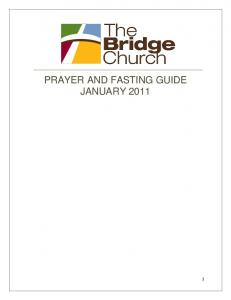 PRAYER AND FASTING GUIDE JANUARY 2011