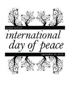 prayer service international day of peace