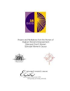Prayers and Meditations from the Women of Anglican Women s Empowerment Episcopal Church Women Episcopal Women s Caucus