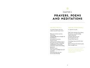 Prayers, Poems and Meditations