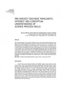 PRE-SERVICE teachers Familiarity,