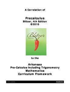 Precalculus Blitzer, 4th Edition 2010