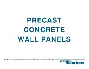 PRECAST CONCRETE WALL PANELS