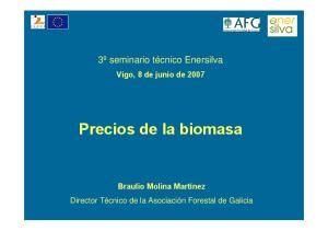 Precios de la biomasa