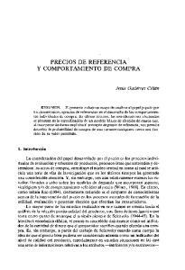 PRECIOS DE REFERENCIA Y COMPORTAMIENTO DE COMPRA