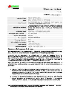 PRECIOS UNITARIOS LICITACION PUBLICA