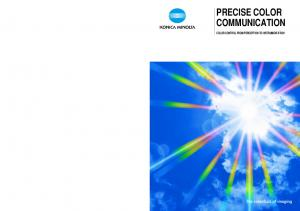 PRECISE COLOR COMMUNICATION COLOR CONTROL FROM PERCEPTION TO INSTRUMENTATION