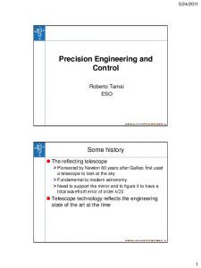 Precision Engineering and Control