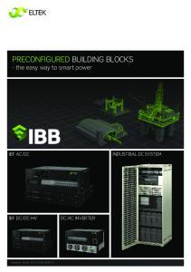 PRECONFIGURED BUILDING BLOCKS - the easy way to smart power