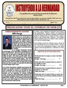 PREDICANDO TODO EL CONSEJO DE DIOS (II)
