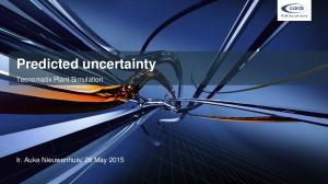 Predicted uncertainty