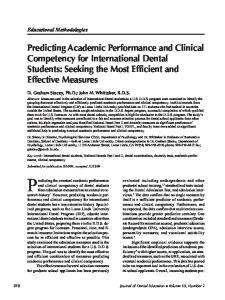 Predicting the eventual academic performance
