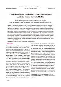 Prediction of Coke Yield of FCC Unit Using Different Artificial Neural Network Models