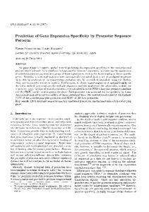 Prediction of Gene Expression Specificity by Promoter Sequence Patterns