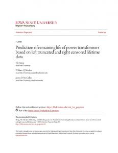 Prediction of remaining life of power transformers based on left truncated and right censored lifetime data