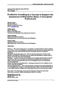 Predictive Crowding as a Concept to Support the Assessment of Disruptive Ideas: A Conceptual Framework